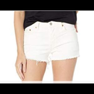 LEVIS   501 shorts mid rise white 31 destructed